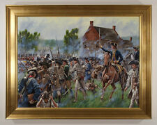 Original Mark Maritato Signed Oil Painting Battle of Brooklyn Revolutionary War