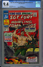 Sgt. Fury and His Howling Commandos Annual #3 CGC 9.0 OW/W