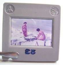 Rda couleur Dia Femme nue acte Nude Full Naked ver plage regards pour 1970!