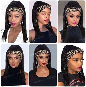 Braided Headband Wig Cornrow Box Braid Wigs with Headband Wigs For Black Women