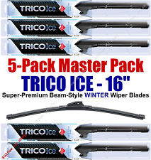 "5 Pack 16"" WINTER Wiper Blades Super-Premium Beam-Style Trico ICE 35-160 (x5)"