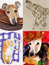 Sue Monahan Dog Art Notecards Set of 4 w/envs Series IV