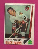 1969-70 OPC #  134 HAWKS LOUIS ANGOTTI  EX CARD (INV#1667)