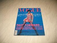 Vogue magazine # 1990 August UK issue Helena Christensen cover by Sante D'Orazio