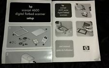 HP SCANJET 4600 SETUP AND MANUAL