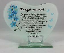 Forget Me Not Memorial Tea Light Holder Remember Family Plaque Gift