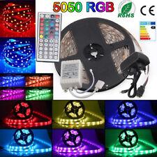 LED Strip Leiste Streifen Lichtkette Band 44-Keys 5050 SMD Wasserdicht 5m RGB