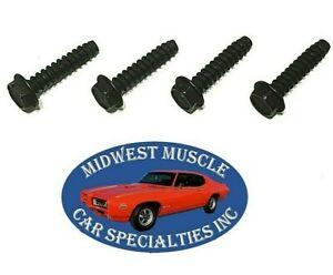 GM Windshield Wiper Motor Washer Fluid Pump Plastic Manifold Bolt Screws 4pcs QM