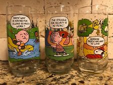 bcc75f306b Set Of 3 McDonald s Peanuts Camp Snoopy Collection Charlie Brown Vintage  Glasses