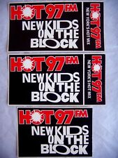 Lot of 3- Vintage Stickers New Kids On The Block Hot 97Fm New York's Hot Mix
