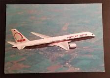 ROYAL AIR MAROC Airlines 757 Postcard P158