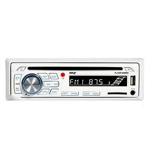 Pyle Bluetooth Marine Stereo AM FM Radio CD Player Receiver