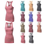 FashionOutfit Women's Ribbed Racer-Back Stripe Tight Fit Tank Top (ONLY $4.99!)