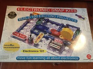 Electronic SNAP KIT Set Build 100 Projects Ages 8 - 108 Radio Shack STEM
