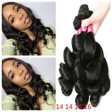 Malaysian Loose Wave Hair Bundles 100% Human Hair 4 Bundles Deals Natural Color