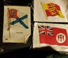 3 Vintage Cigarette Tobacco Silk National Flags (ca. 1912 - 1915.) Lot3