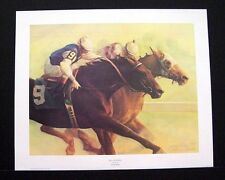"""James Crow Signed Limited Edition Print """"Nines on the Move"""" Horse Racing"""