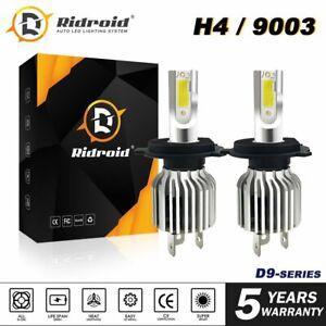9003 H4 LED Headlights Bulbs Hi/Lo Beam 180W 32000LM 6000K Bright White Bi-xenon