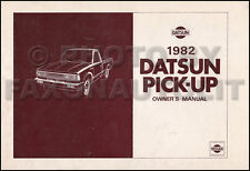 1982 Datsun Pickup Truck Owners Manual 720 Pick-Up Owner Guide Book Gas Diesel