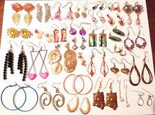 Pierced Earrings Lot of 32 Vintage Gold & Silver Tone