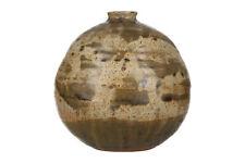 A mid century studio pottery vase Brutalist stoneware Unknown mark