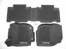OEM ALL WEATHER BLACK FLOOR MATS SET 3 PIECE FRONT REAR TOYOTA RAV4 RAV 4 13-18