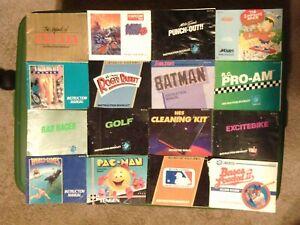 22 NES Manual Lot RARE!!!