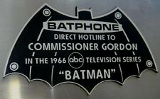 CUSTOM 1966 WAYNE MANOR BATPHONE DISPLAY PLACARD PLAQUE BATMAN TV SERIES