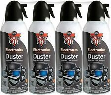 4 Pack Falcon Dust-Off Compressed Air Gas Duster Computer Keyboard Cleaner 10 oz