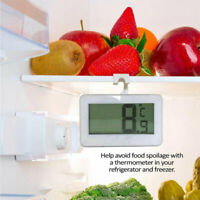 LCD Digital Refrigerator Freezer Thermometer Temperature Meter W/Magnet Hook US
