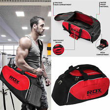 RDX Training Kit Gym Holdall Bag Carry On Sports Travel Backpack Red Black