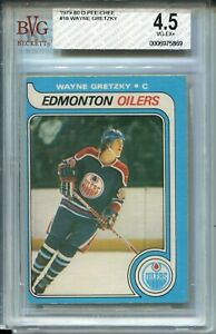 1979 OPC Hockey #18 Wayne Gretzky Rookie Card RC Graded BVG 4.5 O-Pee-Chee '79