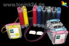 CISS für HP 70 HP70 Designjet Z2100 Z 2100 8 Color Pigment HP-70 C9454A C9449A x