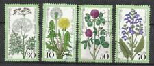 5888- SERIE COMPLETA SELLOS 11977 Nº796/9 FLORES FLORA NATURALEZA GERMANY
