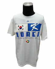 MAJESTIC Men's Korea WBC T-Shirt (Large, White)