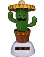 Solarfigur Figur Kaktus Olé Solar Dekofigur Sombrero Mexiko Tanzend Wackel-Figur