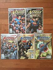 DC New 52 Superman ACTION COMICS #1, 2, 3, 4, 5 First Printings Grant Morrison