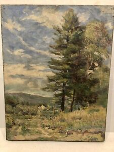 "1870's Boston School Impressionist "" Wildflowers Along The Path Home"""