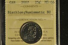 Canada 2007 Quarter 25 Cent - Biathlon - ICCS - MS66 -