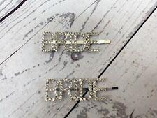 Diamond Bride Hair Clip Hairpin Slide Hair Grips Jewellery Shiny Diamante