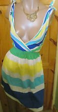 PAPAYA STRIPE SUNDRESS+ TIED SHOULDERS SIZE 18, WORN ONCE