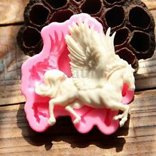 3D Silicone Pegasus Horse Fondant Sugarcraft Cake Chocolate Icing Decor Molds US