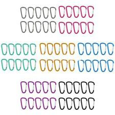 10pcs 6cm Aluminum Carabiner Clips D-Ring Snap Hook Key Chain for Backpack