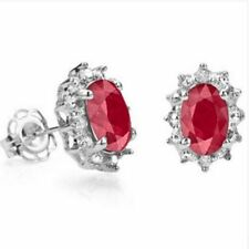 Cluster Natural Ruby Fine Earrings