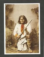 CARTE POSTALE INDIEN AMERIQUE GERONIMO CHEF APACHE CHIRICAHUA