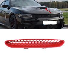 Fit For Dodge Charger SRT 2015-2020 Red Hood Bezel Mopar Center Grid Grille Trim