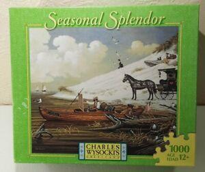 Charles Wysocki 1000 Piece Puzzle Feathered Critics Seasonal Splendor Unopened