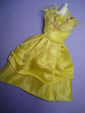 Vtg Barbie 80s Doll Clothes Clone Gold Lace Peasant Dress No Label