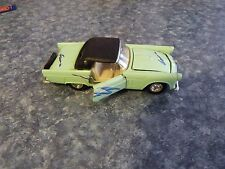 Heavy Die Cast 1955 Thunderbird Welly No. 9014 Green Collectible Vntg CL6-32