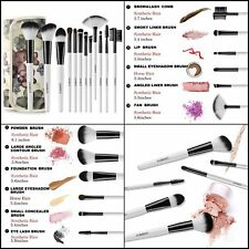 12 Pieces Professional Premium Makeup Brushes Set Kit with Floral Case for Women